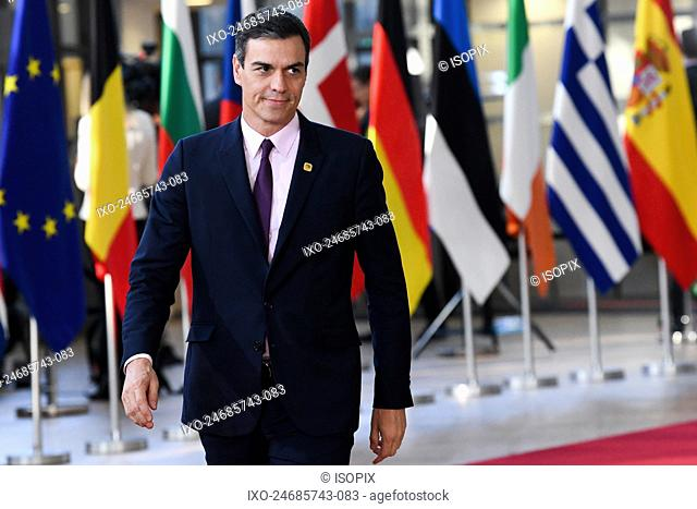 Brussels , 10/04/2019 Extraordinary meeting of the European Council , Art. 50 , Brexit . Pix : Pedro Sanchez Perez Castejon Credit : Frederic Sierakowski /...