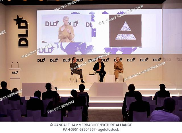 MUNICH/GERMANY - JANUARY, 21: (L-R) Michael John Gorman (BIOTOPIA), Phil Ross (MycoWorks) in conversation at a panel discussion during DLD18...