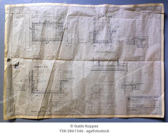 Tilburg, Netherlands. Vintage structural drawings found at the Former Regional and Stasi Hospital in Berlin - Buch. The hospital is no longetr in use since...