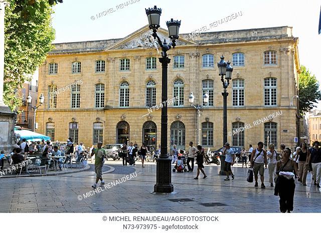 France, Bouches-du Rhône, Aix en Provence, la grande Poste , place de l'Hotel de Ville