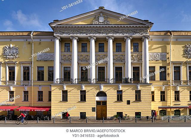 St. Petersburg Russia. Historical buildings on Nevsky Prospect
