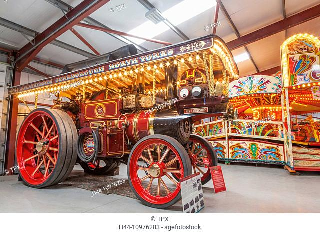 England, Yorkshire, Fiely, The Scarborough Fair Collection, Vintage Steam Tractors