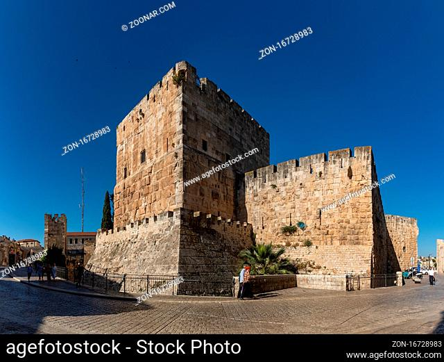 A panorama picture of the Tower of David (Jerusalem)