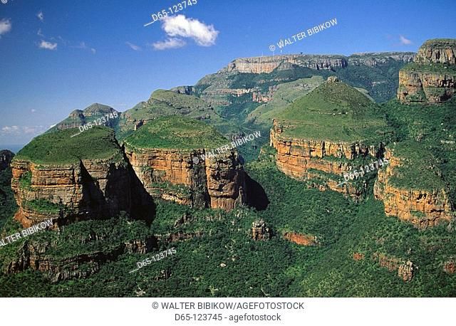 The Three Rondavels, Blyde River Canyon, Drakensberg area. Mpumalanga province, South Africa