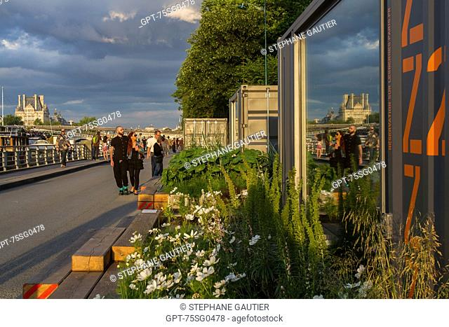 JARDIN INTIME (INTIMATE GARDEN), RESERVE A ZZZ TO RELAX, GARDEN BY THE SEINE AS PART OF THE BANKS OF THE SEINE, URBAN MANAGEMENT PROGRAM OF THE RIGHT AND LEFT...