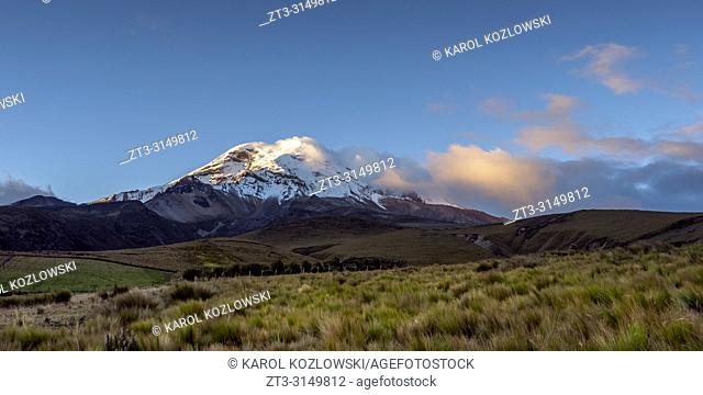 Chimborazo Volcano at sunset, Chimborazo Province, Ecuador