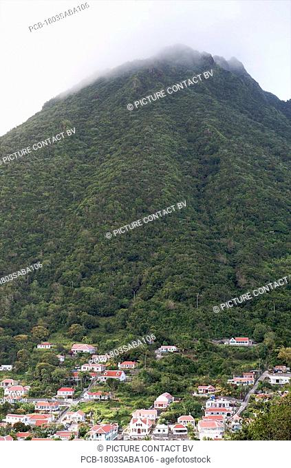 Saba, Windwardside, view on Mt Scenery