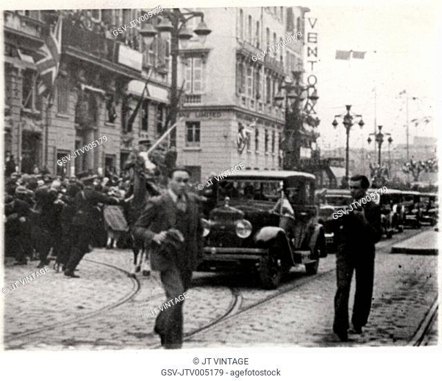 Assassination of King Alexander of Yugoslavia, Marseille, France, 1934