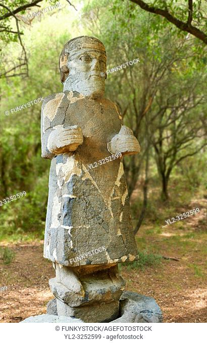 Pictures & images of the South Gate Hittite sculpture statue of Hittite Storm God Tarhunzas ( Tarḫunz Tarḫunna or in Hurrian Teshub or in Phoenician Baal...