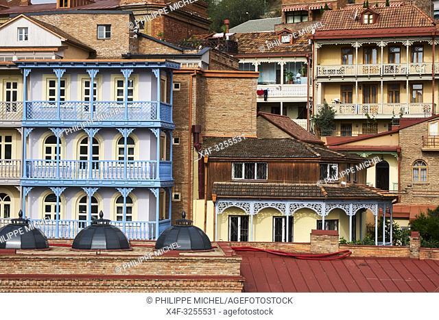 Georgie, Caucase, Tbilissi, vieille ville / Georgia, Caucasus, Tbilisi, old city,