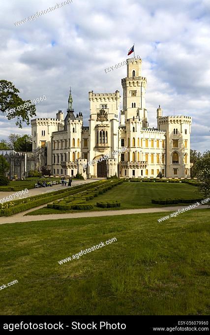 Hluboka nad Vltavou castle in Southern Bohemia, Czech Republic