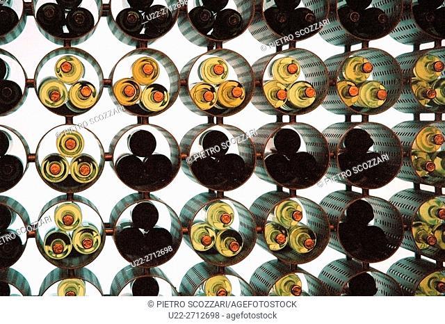 New York City, U.S.A.: wine bottles at the cafeteria of the MET (Metropolitan Museum of Art)