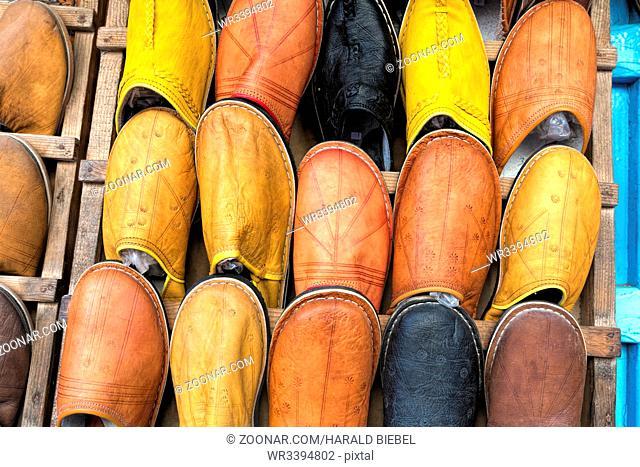 Traditionelle Schuhe in Marokko