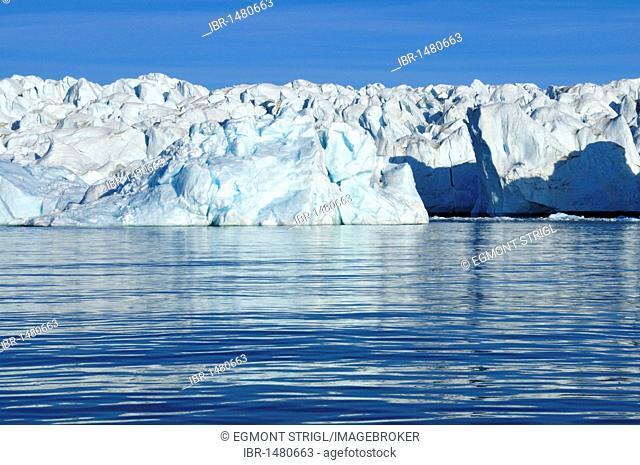 Tidewater glacier at Crocker Bay on Devon Island, Northwest Passage, Nunavut, Canada, Arctic