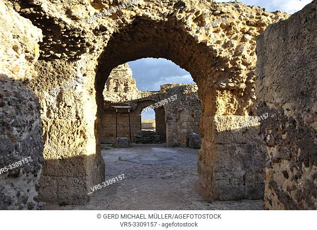 Karthago, Unesco world heritage site with the roman ruins, stones and reliquies in Tunisia