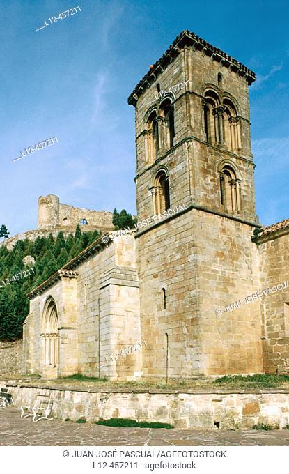 Romanesque church of Santa Cecilia (12th century), Aguilar de Campoo. Palencia province, Castilla-León, Spain