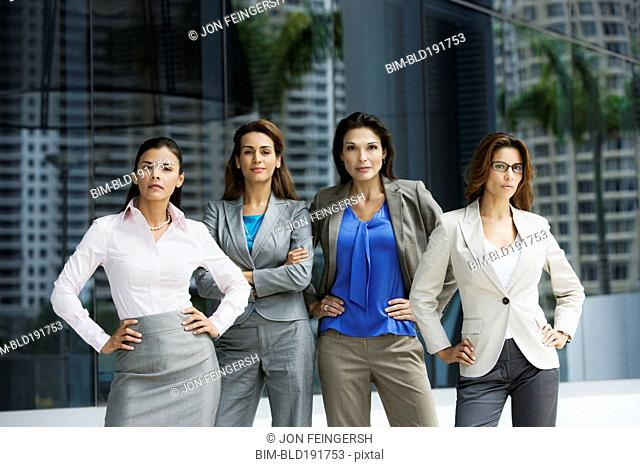 Confident Hispanic businesswomen