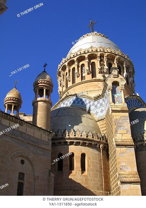 Catholic Cathedral Notre d'Afrique, Zighara, west of Algiers, Algeria, North Africa
