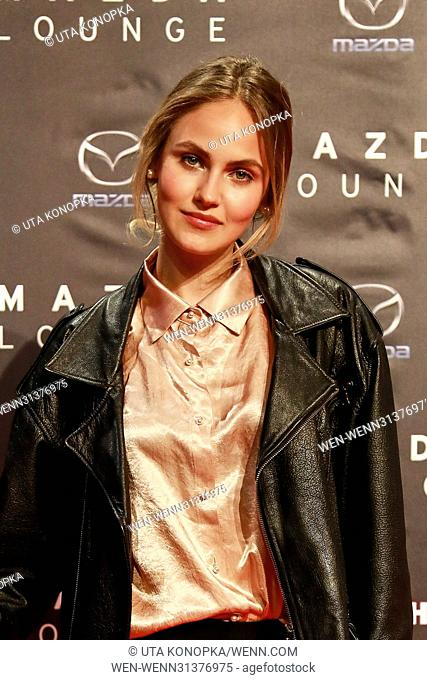 Spring cocktail hosted by Mazda and InTouch magazine at Mazda Pop Up-Store. Featuring: Elena Carriere Where: Düsseldorf, Germany When: 27 Apr 2017 Credit: Uta...