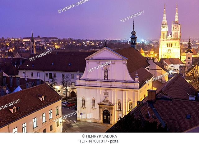 Zagreb Cathedral and St. Catherine Church