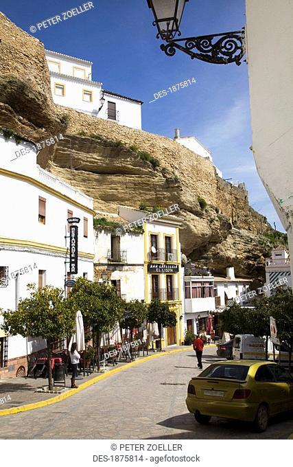 Setenil De Las Bodegas, Andalusia, Spain, A Street In The Town