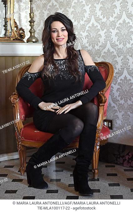 Manuela Arcuri during the photocall of the Mediaset TV series Il Bello Delle Donne Alcuni Anni Dopo. Rome. Italy 10/01/2017