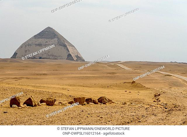 Egypt, Giza Gouvernement, Dahshur, The Pyramids of Dahshur are older than the Pyramids of Giza. They were built by Snofru, the father of the Cheops
