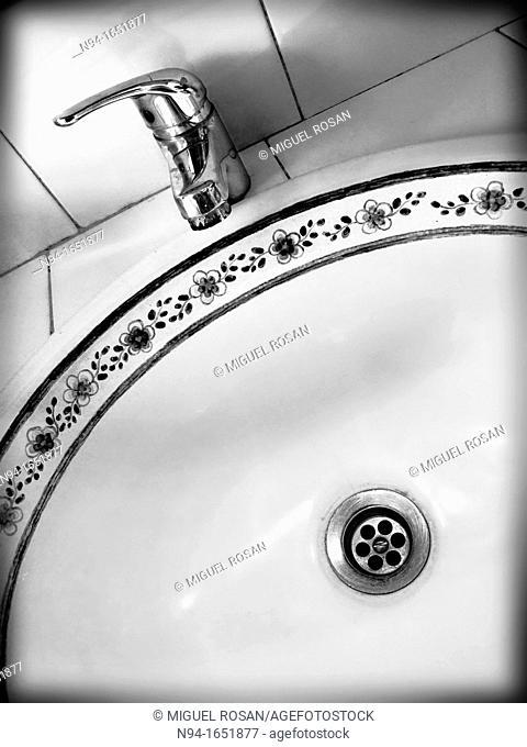 Close up of porcelain sink