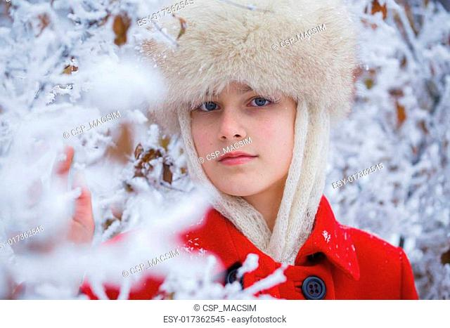Teenager winter girl
