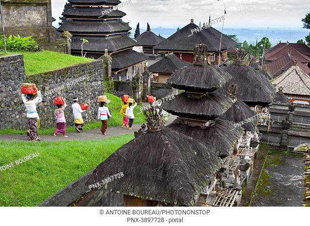 Hindu Kuningan Ceremony at Besakih Temple in Bali, Indonesia