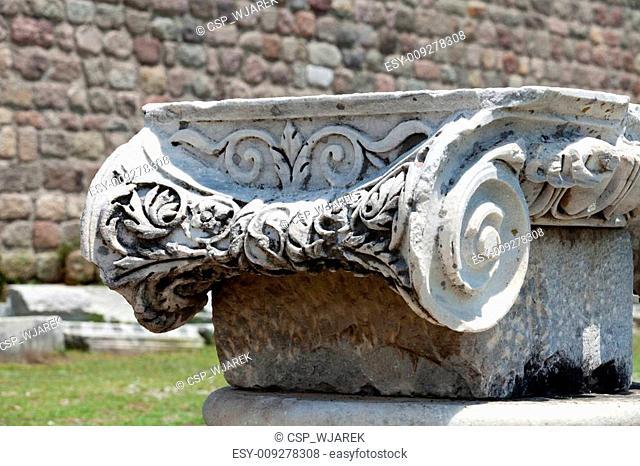 Ionian column capital, architectural detail