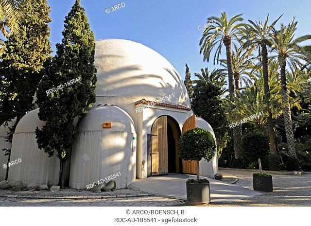 Visitor center in city park, Elche, Valencia, Costa Blanca, Spain, Elx
