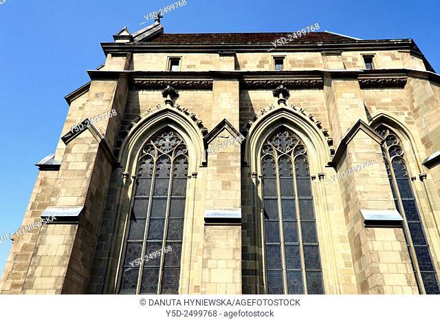 Europe, Switzerland, Geneva, Cathedral Saint-Pierre at Place du Bourg-de-Four