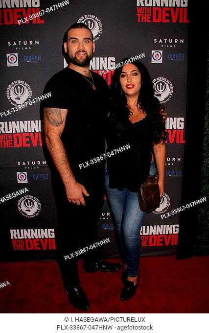 "Weston Coppola Cage, Hila Aronian 09/16/2019 """"Running with the Devil"""" premiere held at Writers Guild Theater in Beverly Hills, CA Photo by I"