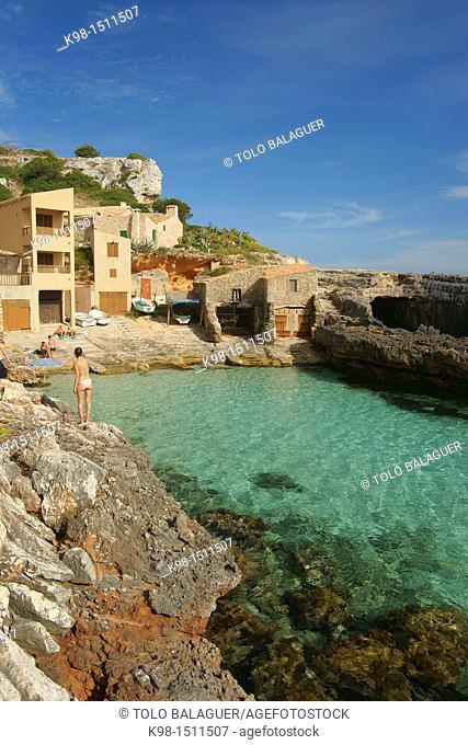 Caló des Macs S'Almunia Migjorn Santanyi Mallorca Balearic Islands Spain