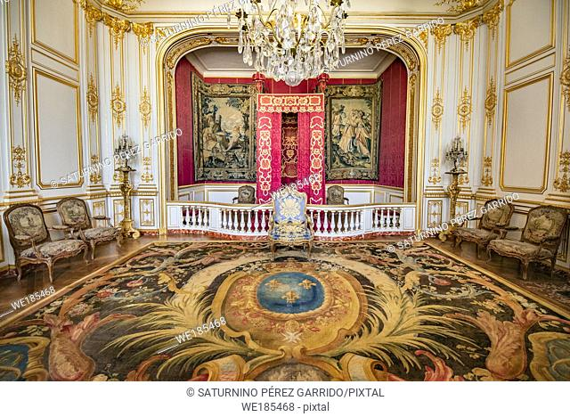 King's bedroom in Chambord Castle, France