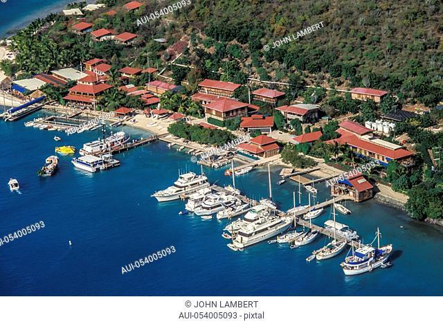 british virgin islands, virgin gorda island, the bitter end aerial view