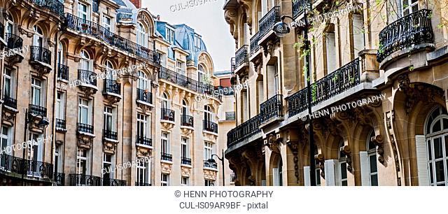 Typical Haussmann buildings, Paris, France
