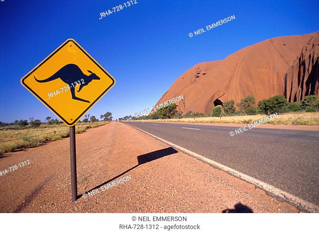 Road sign at Ayers Rock, Australia