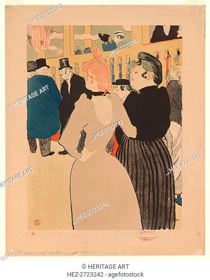 Au Moulin Rouge: The Glutton and Her Sister (La Goulou et sa soeur). Creator: Henri de Toulouse-Lautrec (French, 1864-1901)