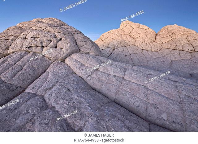 Brain Rock at dusk, White Pocket, Vermilion Cliffs National Monument, Arizona, United States of America, North America