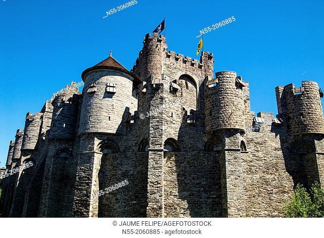 Gravensteen (Castle of the Counts). Ghent, West Flanders, Belgium