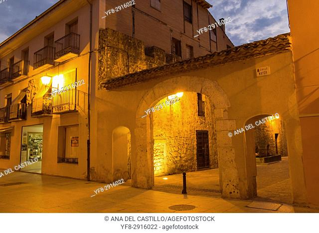 Burgo de Osma village by dusk Soria province Castile Leon Spain on June 11, 2017