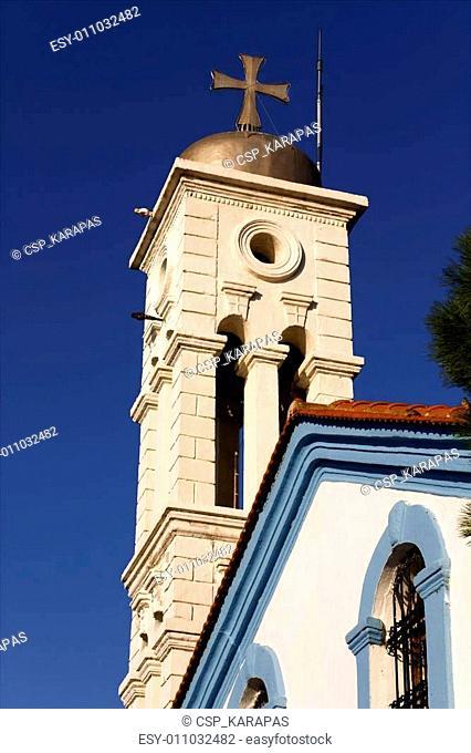 Greek Orthodox church at Porto Lagos