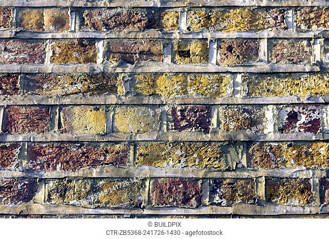 Decorative brickwork: English bond. This pattern comprising alternating courses of headers and stretchers. It is one of the strongest bonds as it has no...