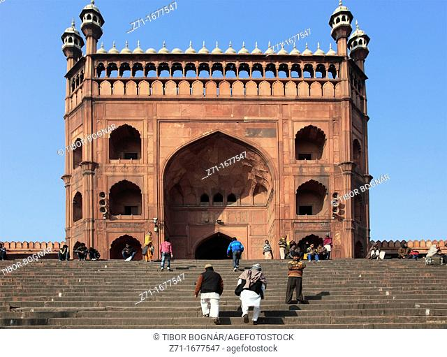 India, Delhi, Jama Masjid, Mosque, east gate