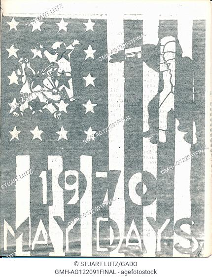 Industrial Workers of the World strike pamphlet for May Day 1970, announcing a strike in protest of the Vietnam War, 1970