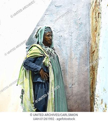 Morocco, portrait of a merchant, image date: circa 1910. Carl Simon Archive