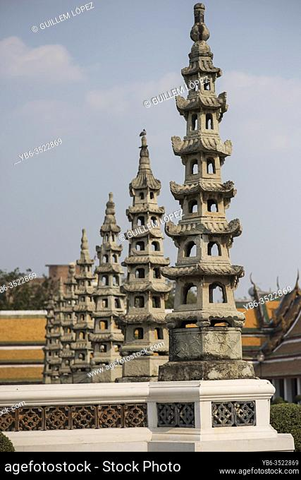 Wat Suthat temple in Bangkok , Thailand