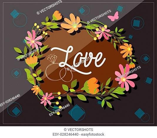 Fantastic Floral Frame Vector Illustration